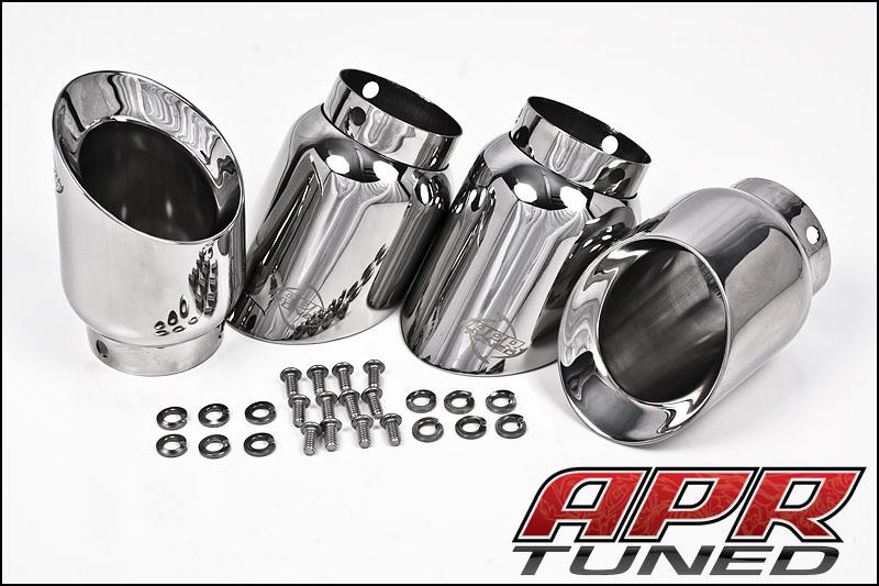Apr b8 s4 30tfsi rsc exhaust full catback system polished silver tips publicscrutiny Gallery