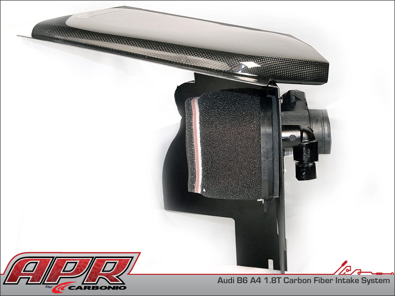 Apr audi a4 b6 1 8t carbon fiber cold air intake system